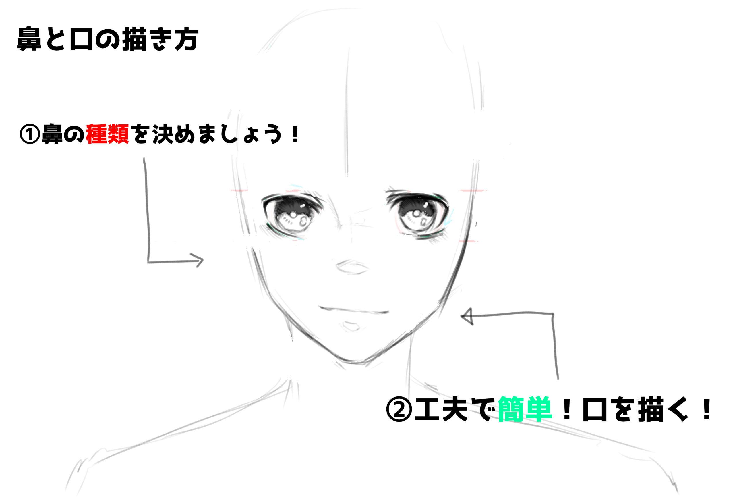 口の描き方②